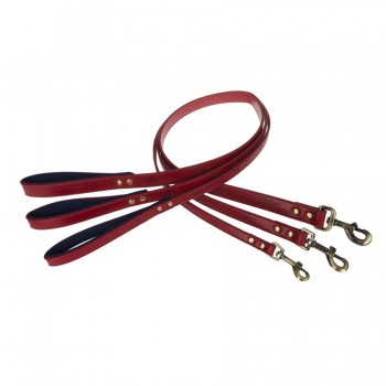 Rote Hundeleine, 3 Größen