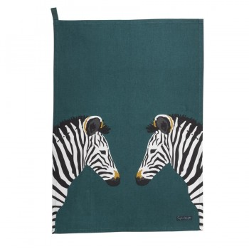 "Geschirrtuch ""Zebraköpfe"""