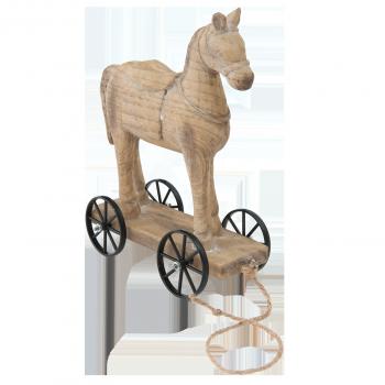 Deko-Pferd auf Rollen