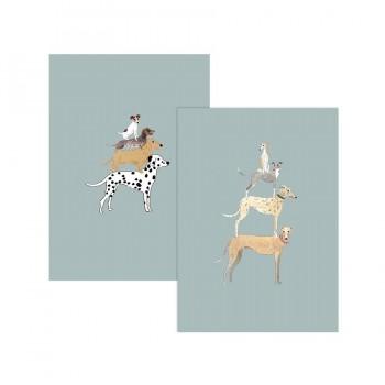 """Grußkarten """"Dogs"""", 6-er Set"""