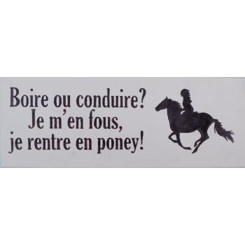 """Dekoboard """"Boire ou..."""