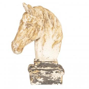 Weißer Shabby Chic Pferdekopf