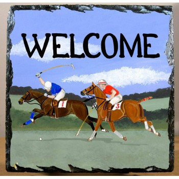 "Polo Deko-Wandfliese ""Welcome"""