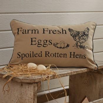 """Kissen """"Farm Fresh Eggs"""""""