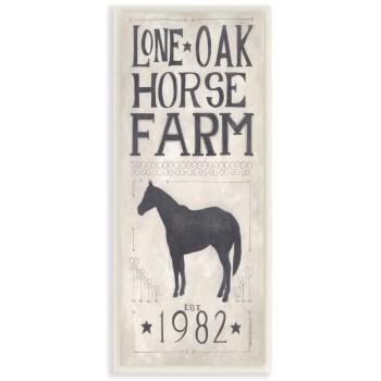 "Holzschild ""Lone Oak Horse..."