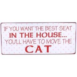 """Blechschild """"Cat - If you..."""