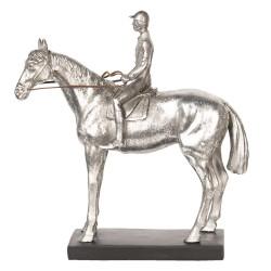 Silberfarbenes Pferd mit...