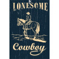 "Western-Leinwand ""Lonesome..."